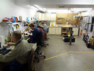 Our brass and woodwind repair shop