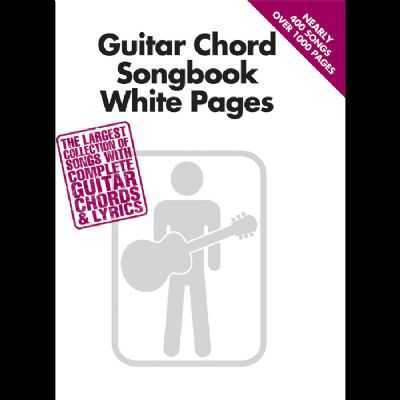 Guitar Chord Songbook White Pages Instrumental Song Books