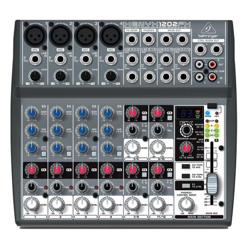 Behringer 1202FX 6 Channel Analog Compact Mixer