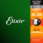 Elixir Nanoweb Nickel Coated Long Scale Bass Guitar Strings