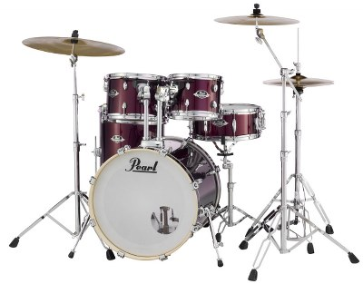Pearl Burgandy Export Drum Set with Hardware