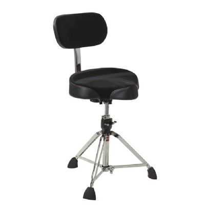 Gibraltar 9608MB Oversized 'Motorcycle Seat' Drum Throne with Adjustable Backrest