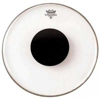 Clear Black Dot On Top 12 Diameter Remo Controlled Sound