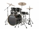 Ludwig Evolution Black Sparkle Drum Set with Hardware and Cymbals
